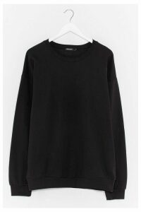 Womens Basic Oversized Sweat - black - M, Black