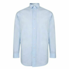 HUGO Oversized Paper Touch Shirt - Open Blue