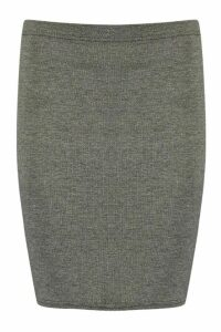 Womens Basic Jersey Mini Skirt - Grey - 6, Grey