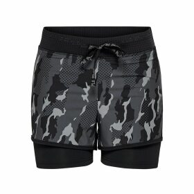 Camouflage Print 2-in-1 Sports Shorts