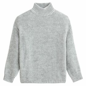 Recycled Polyester Mix Jumper with High Neck
