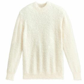 Fuzzy Knit Jumper with Crew Neck