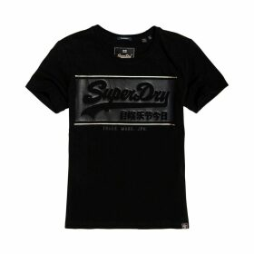 Vintage Block Logo T-Shirt with Short-Sleeves