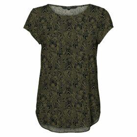 Tiger Print Short-Sleeved Blouse