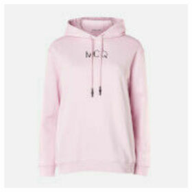 McQ Alexander McQueen Women's Boyfriend Hoodie - Bubblegum Pink