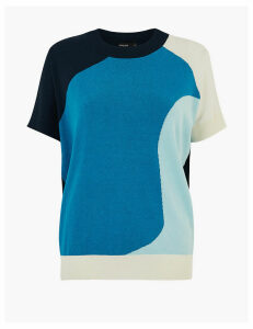 Autograph Colour Block Batwing Sleeve Jumper