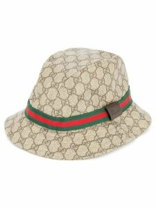 Gucci Pre-Owned GG pattern Shelly Line hat - Brown