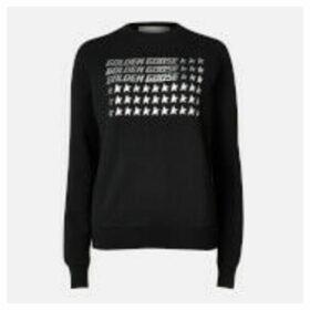 Golden Goose Deluxe Brand Women's Sweatshirt Catarina - Black/Golden Goose Flag