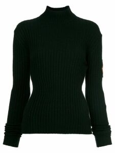 Chanel Pre-Owned patch sleeve knit top - Black
