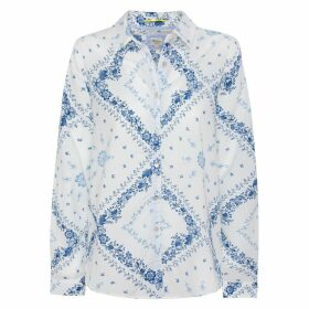 Printed Cotton Shirt with Long Sleeves