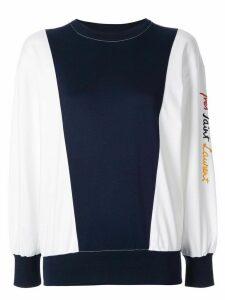 Yves Saint Laurent Pre-Owned colour-blocked sweatshirt - White