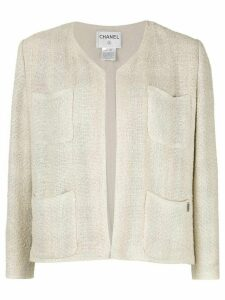 Chanel Pre-Owned long sleeve jacket - NEUTRALS