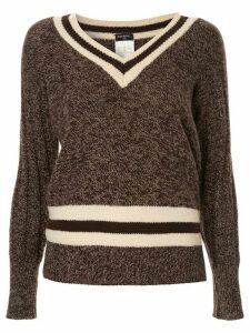 Chanel Pre-Owned 1996 cashmere V-neck jumper - Brown