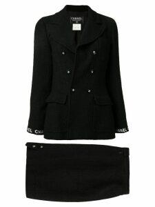 Chanel Pre-Owned Set Up Suit Jacket Skirt - Black