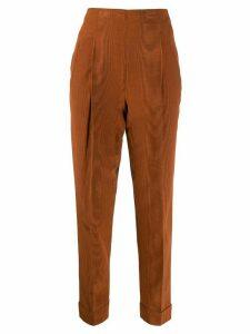 Romeo Gigli Pre-Owned 1997 high rise cropped trousers - ORANGE