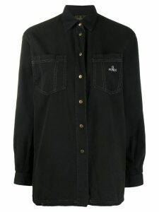 Fendi Pre-Owned 1990s embroidered logo shirt - Black