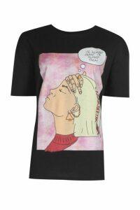 Womens Tall 'It'S Almost Friday' T-Shirt - Black - M, Black