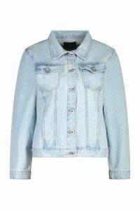 Womens Denim Western Jacket - Blue - 16, Blue