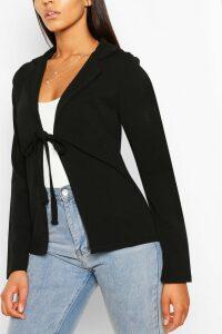 Womens Tall Tie Front Blazer - Black - 18, Black