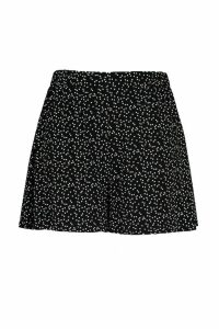 Womens Plus Jersey Star Print Flippy Shorts - Black - 20, Black