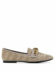 Kurt Geiger London Chelsea tweed loafers - NEUTRALS