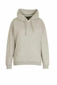 Womens Plus Oversized Basic Hoodie - Grey - 24-26, Grey