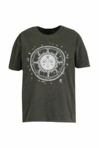 Plus Acid Wash Sun T-Shirt - Black - 20, Black