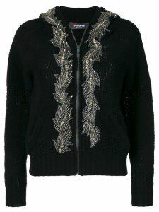 Jo No Fui embellished hooded cardigan - Black