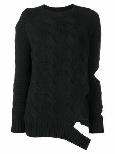 Zoe Jordan cut-out detail jumper - Black