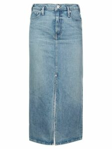 Proenza Schouler White Label PSWL Straight Denim Skirt - Yellow