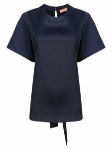 Maggie Marilyn ruffle back blouse - Blue