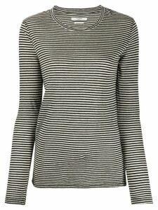 Isabel Marant Étoile long sleeved striped top - Black