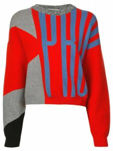 Proenza Schouler White Label PSWL Graphic Jacquard Sweater - Red