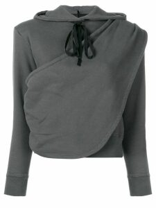 UNRAVEL PROJECT draped hoodie - Grey