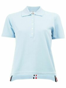Thom Browne signature stripe polo shirt - Blue
