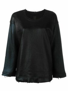 RtA crew neck distressed jumper - Black