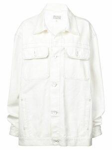 Maison Margiela oversized denim jacket - White