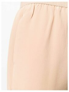 Semicouture elasticated cropped trousers - NEUTRALS