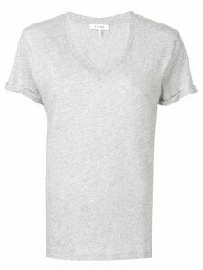 FRAME V-neck T-shirt - Grey