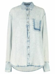 Proenza Schouler Acid Wash Denim Shirt - LIGHT ACID