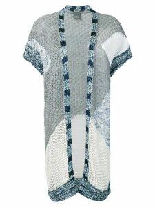 Lorena Antoniazzi colour-block cardigan - Blue