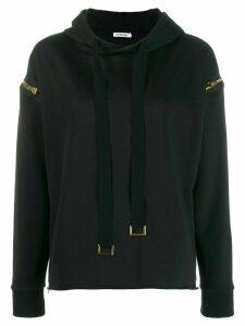 Parlor zip detail hoodie - Black
