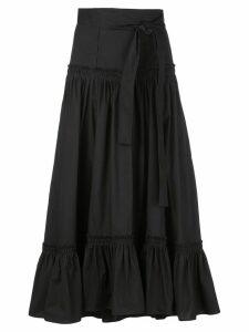 Proenza Schouler Cotton Poplin Tiered Skirt - Black