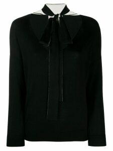 RedValentino neck bow jumper - Black