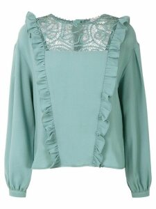 Martha Medeiros Renascença long sleeved blouse - Green