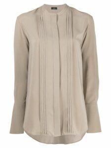 Joseph long-sleeve shift blouse - Brown