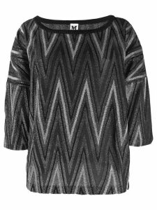 M Missoni boat neck sweater - Black