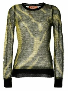 Nº21 tie-dye effect jumper - Yellow