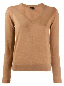 PS Paul Smith knitted v-neck top - Brown
