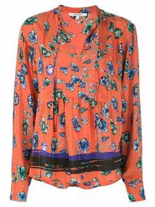 Derek Lam 10 Crosby French floral print peplum blouse - Red